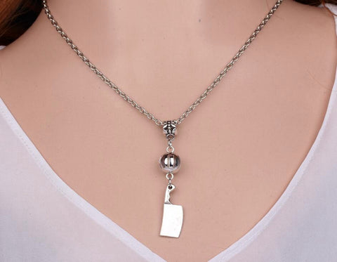 Adorable Chef Kitchen Knife Chain Necklace