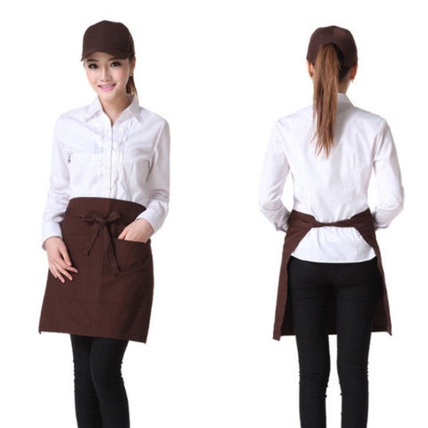 Half Waist Kitchen Apron with Two Pockets
