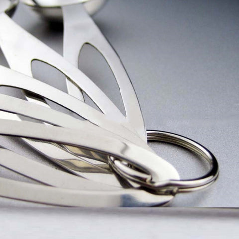 5x Stainless Steel Measuring Spoons