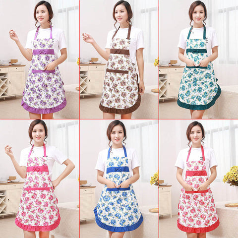 Printed Apron with Pockets