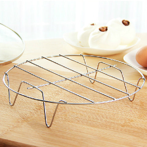 Stainless Steel Steaming Rack w/ Round Frame