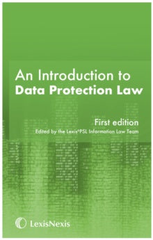 An Introduction to Data Protection