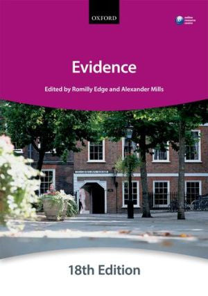 Bar Manual: Evidence 18th ed