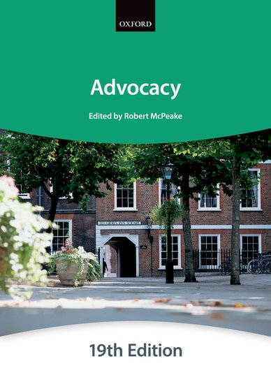 Bar Manual: Advocacy 19th Edition