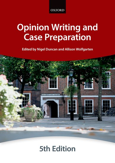 Bar manual: Opinion Writing and Case PreparationFifth Edition