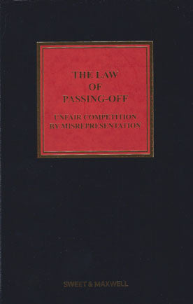 The Law of Passing-Off: Unfair Competition by Misrepresentation
