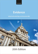 Bar Manuals - Evidence 20th Edition