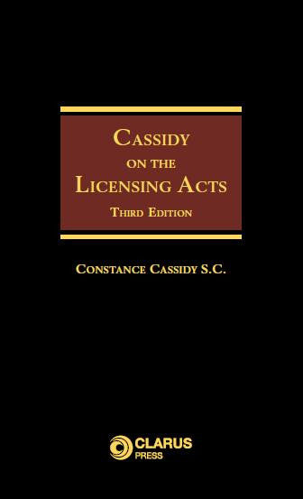 Cassidy Licensing Acts 3Rd