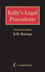 Kelly's Legal Precedents 21st edition