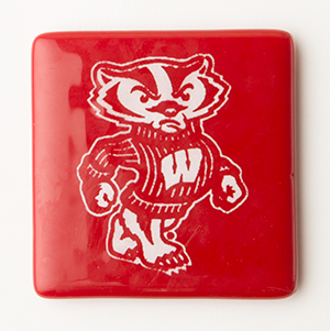 Bucky Badger Coaster