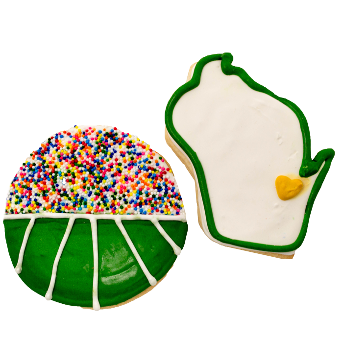 Green Bay and StadiumFrosted Sugar Cookies