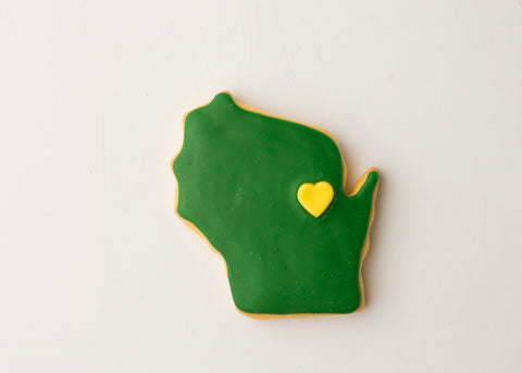 Green & Gold Frosted Sugar Cookie