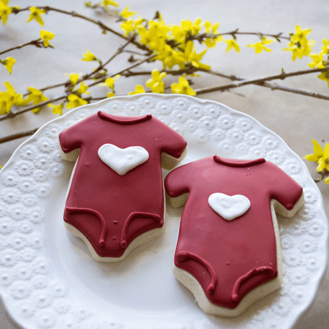 onesie Frosted Sugar Cookies