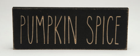 Wooden Pumpkin Spice Sign
