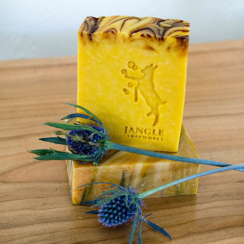 carrot mango goat milk soap