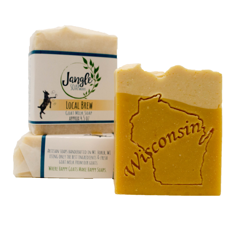 local brew goat milk soap