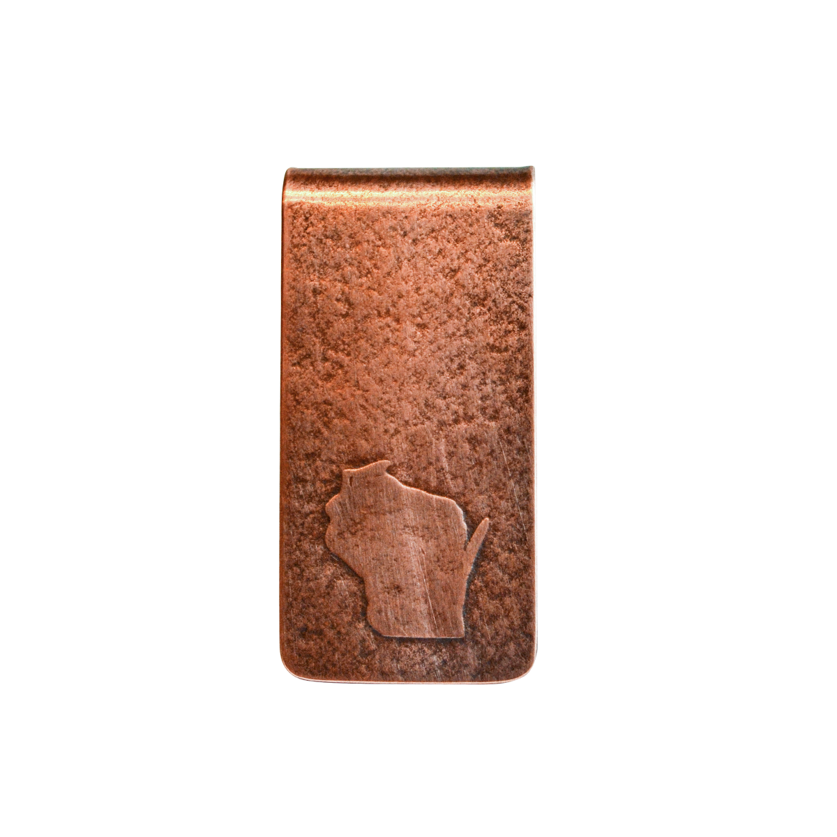 Wisconsin Stamped Money Clip