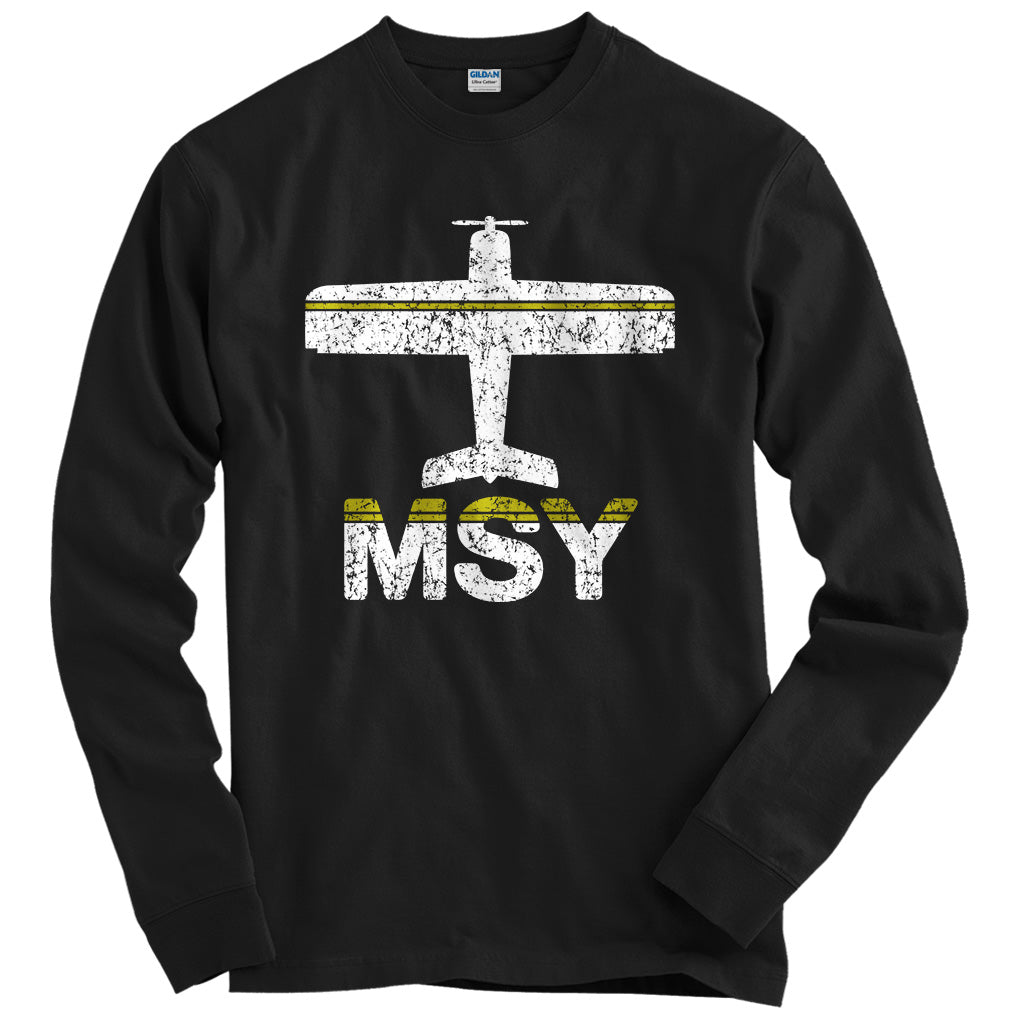 Fly New Orleans MSY Airport T-shirt