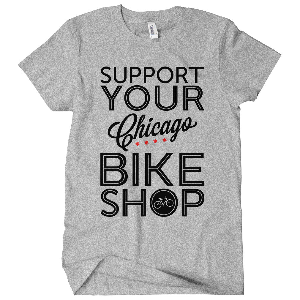 Support Your Chicago Bike Shop T-shirt
