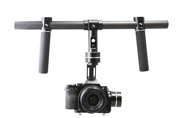 MG V2 3 Axis Gimbal For Mirrorless Camera With Dual Handles - SteadyShot
