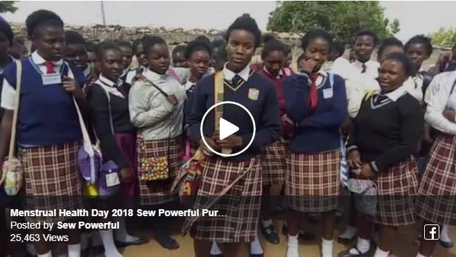 Menstrual Hygiene Day 2018 Sew Powerful Purse Distribution