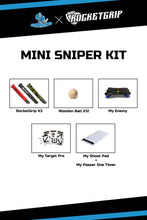 Load image into Gallery viewer, MINI SNIPER KIT - MY SHOOT PAD KIT + MY TARGET PRO + MY ENEMY + 12 PCS. BALLS+3x Rocketgrips
