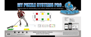 MY PUZZLE SYSTEMS PRO - Dryland Training Flooring Kit For Stickhandling