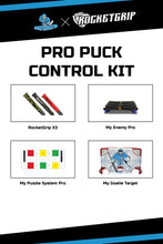 Load image into Gallery viewer, PRO PUCK CONTROL KIT-MY PUZZLE SYSTEMS PRO+MY ENEMY PRO+MY GOALIE TARGET+3x RocketGrips