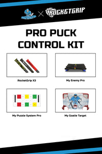 PRO PUCK CONTROL KIT-MY PUZZLE SYSTEMS PRO+MY ENEMY PRO+MY GOALIE TARGET+3x RocketGrips
