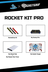 SNIPER KIT PRO - GOALIE TARGET+SHOOT PAD+PASSER ONE TIMER+ENEMY PRO+3x Rocketgrip
