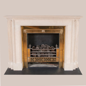 Brook Street chimneypiece in Bath stone copied from an original at 39 Brook Street, Mayfair. Made to order. Other options and sizes can be quoted for. Price for this specification - £7,500.00 plus vat. Price does not include fire-grate or installation.
