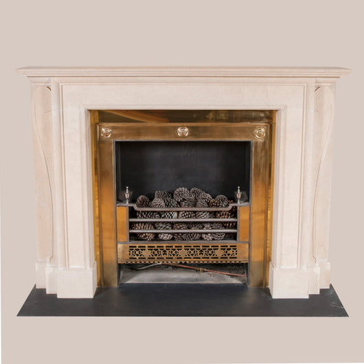 Brook Street chimneypiece in Bath stone copied from an original at 39 Brook Street, Mayfair. Made to order. Other options and sizes can be quoted for. Price for this specification - £11,500.00 plus vat. Price does not include fire-grate or installation.