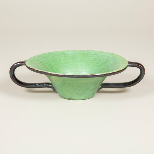 A wide handled ceramic tazza by Dieulefit 1950's.