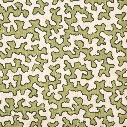 Sibyl Colefax & John Fowler - 'Moss Squiggle' printed fabric. £98.00 + vat per metre. For more information contact antiques@sibylcolefax.com