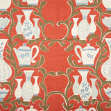 Sibyl Colefax & John Fowler - 'Tea Pots' printed fabric. £120.75 + vat per metre. For more information contact antiques@sibylcolefax.com