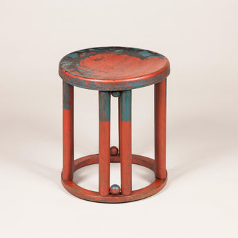 A stool by Josef Hoffmann, Vienna circa 1900 with original painted decoration.