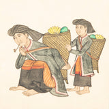 A set of Indonesian watercolours of family scenes. 19th or early 20th century. £465.00 each.