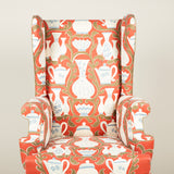 A Lancaster Wing Armchair. Made to order £7,250.00 plus vat, plus fabric.