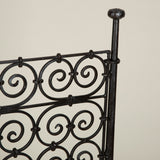 A large wrought-iron rectangular fire screen, late 19th or early 20th C. Possibly Spanish