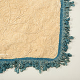 A bedspread made from a panel of late 18th or early 19th century embroidery. (Once the property of Nancy Lancaster).