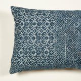 Cushions made up from an early 20th century indigo Fez embroidery. Check at antiques@sibylcolefax.com for availability.