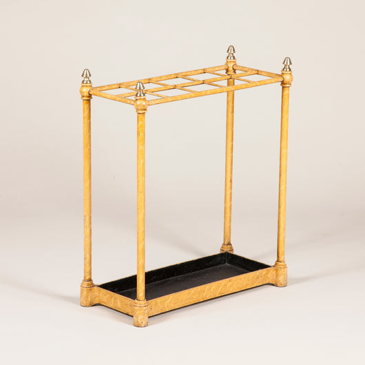 A 19th Century painted brass umbrella stand
