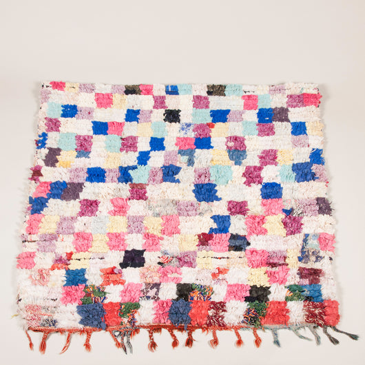 An early 20th century colourful American rag rug.