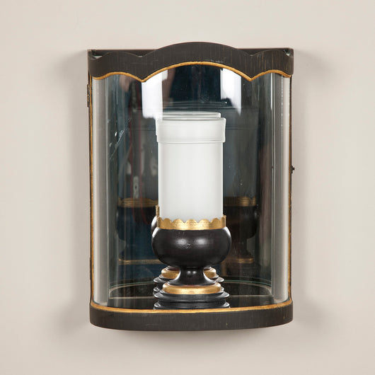 Convex Wall Lantern. Made to order in three sizes with bespoke finishes available. Price dependant on specification.