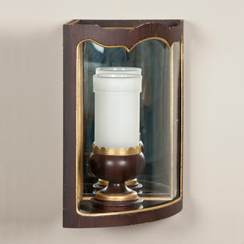 Corner wall lantern. Made to order in three sizes with bespoke finishes available. Price below to a plain white eggshell finish.