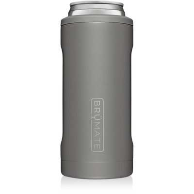 BruMate Hopsulator Slim Can Cooler (Matte Grey)