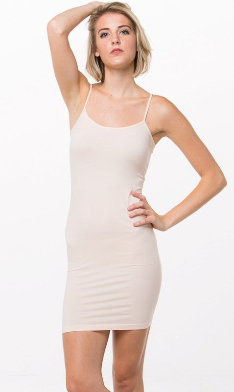 Seemless Long Spaghetti Strap Cami (Various Colors)