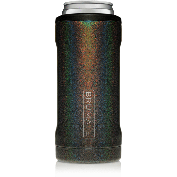 BruMate Hopsulator Slim Can Cooler (Glitter Charcoal)