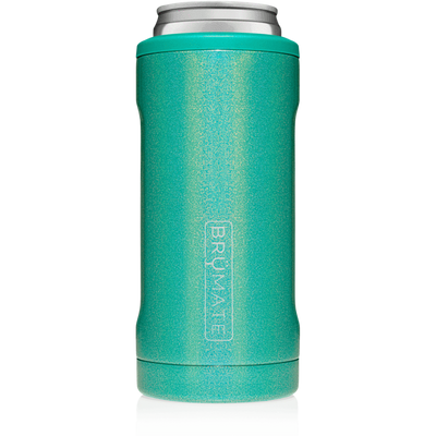 BruMate Hopsulator Slim Can Cooler (Glitter Peacock)