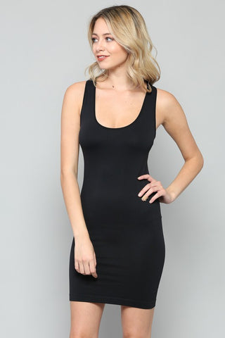 Long Seamless Racerback Slip Dress (2 Colors)